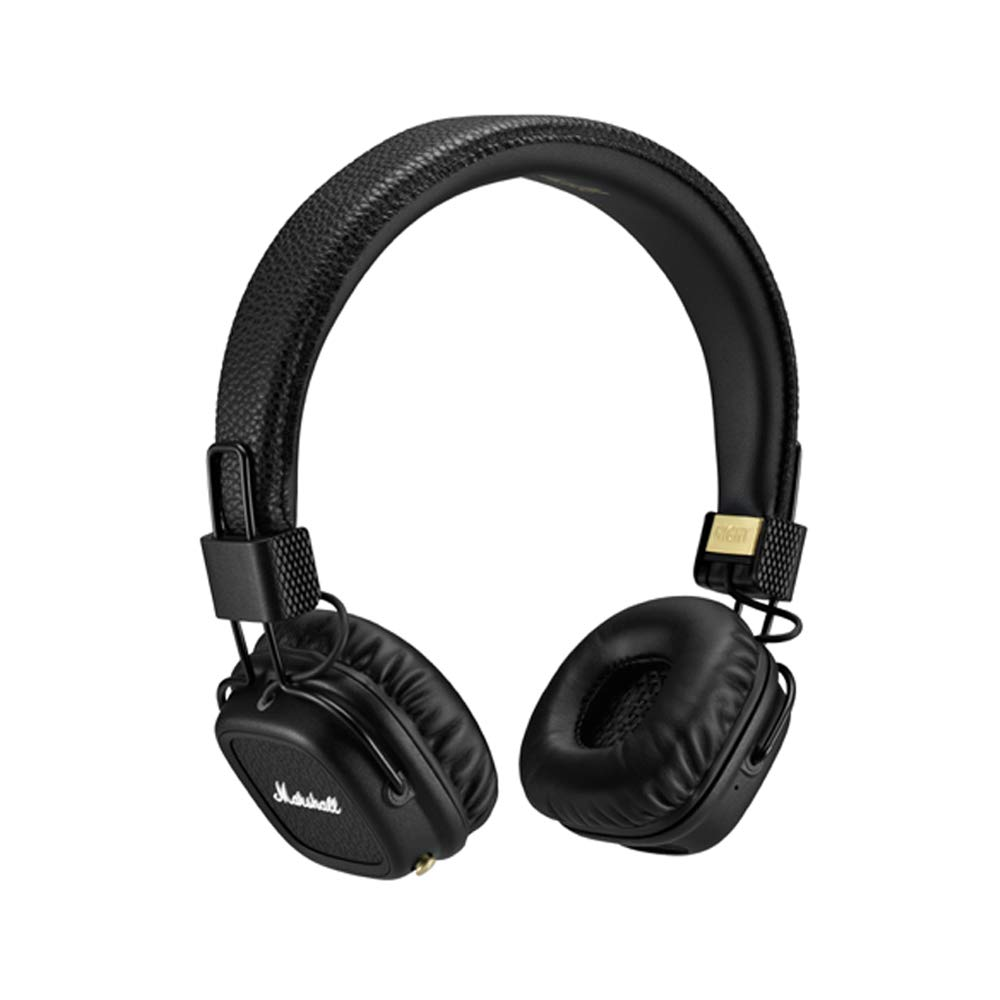 Marshall Major II Bluetooth On-Ear Headphones, Black (4091378) - Discontinued