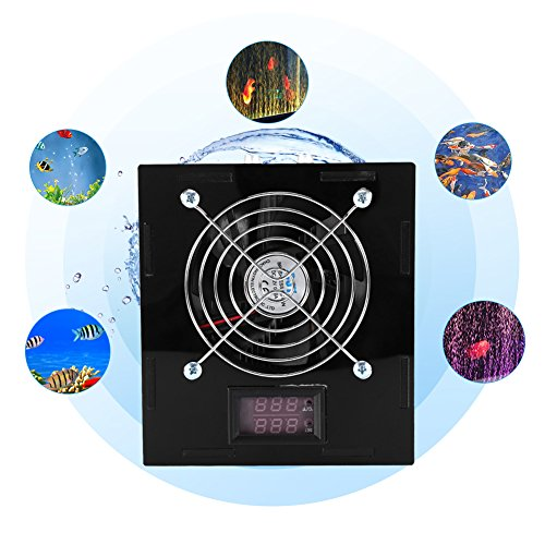 (DC 12V 70W Aquarium Thermostat Chiller with Temperature Control for Fish Tank Chiller Freshwater/Saltwater)