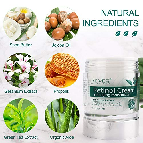 Retinol Cream for Face & Body, Retinol Liposome Delivery System with Hyaluronic Acid and Vitamin E, Aloe, Anti Aging Moisturizer,Improve Firmness,Tone & Texture,Repair Skin,Fine Line & Wrinkle