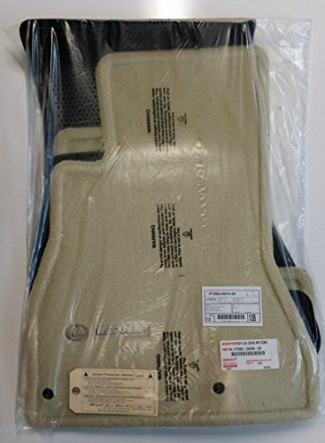 LEXUS Genuine Parts PT208-24010-20 OEM 2002-2009 SC430 Ecru Carpet Floor Mat Set