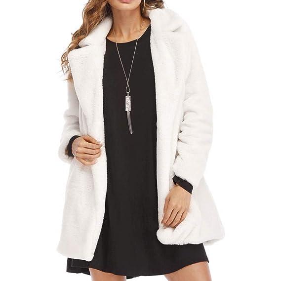 Linlink Gran promoción Dama de Invierno Mujer Caliente de Piel sintética Largo Outwear Chaqueta Parka Abrigos de Invierno para Mujer: Amazon.es: Ropa y ...