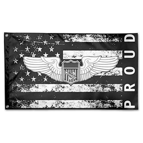 - P-flager Proud American Flag with Army Astronaut Wings Flag 3x5 Ft