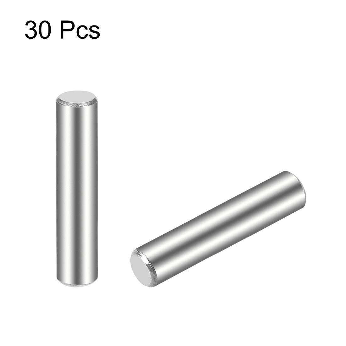 sourcing map 30Pcs Goujon Broche 304 Acier Inoxydable Cylindrique /Étag/ère Support Broche 2.5mm x 25mm