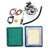 AUTOKAY New Lawn Mower Adjustable GCV160 Carburetor with Tune up Kit Air Filter for Honda GCV160A GCV160LA GCV160LE Engine HRB216 HRR216 HRS216 HRT216 HRZ216
