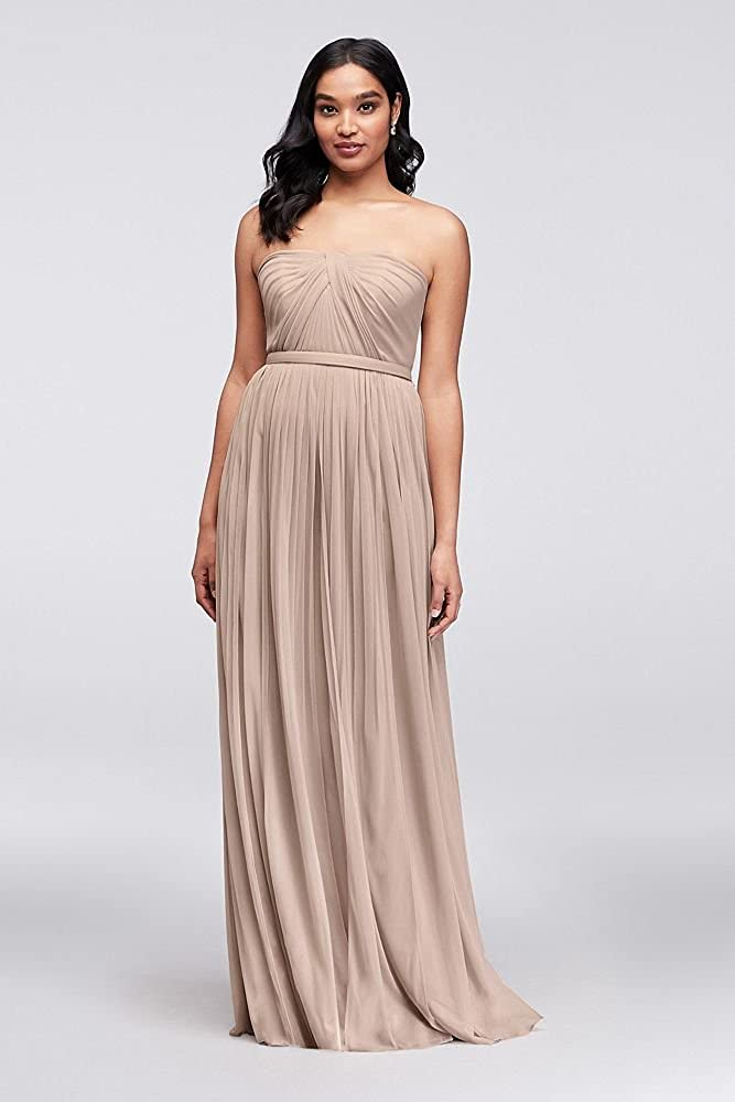 315a707f4122 David's Bridal Long Mesh Style-Your-Way 6 Tie Bridesmaid Dress Style F19515  at Amazon Women's Clothing store: