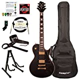 Sawtooth ST-H68C-STNBK-KIT-1 Heritage Series Maple Top Electric Guitar, Satin Black