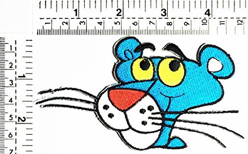 Blue Cat head cat delivery pizza delivery fast food kids cartoon patch Applique for Clothes Great as happy birthday gift