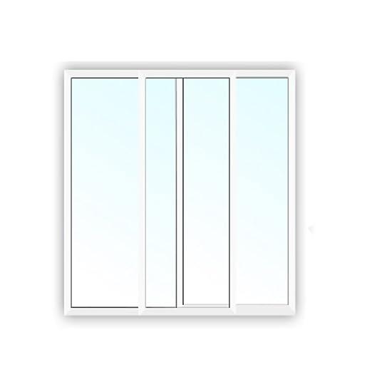 Aluminium Schiebefenster BxH: 1500x800 mm 2-Fach Verglasung Klarglas 4//10//4 Bautiefe: 45,5 mm wei/ß