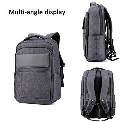 Amazon.com : ZOUQILAI Business Minimalist Backpack 15.6 Inch Laptop Backpack Student Schoolbag Large-capacity Work Travel Trekking Polyester Grey : Sports & ...