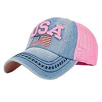GBSELL Women Girl Unisex American Flag Baseball Cap Snapback Hip Hop Flat Hat