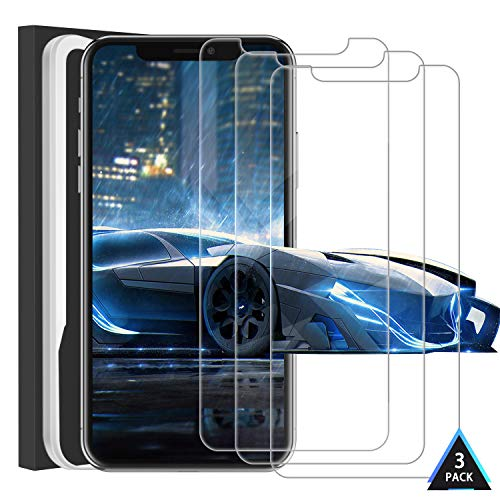 FunPi For iPhone XR Screen Protector, iPhone 11 Screen Protector [3-Pack] [HD] Tempered Glass Film For Apple iPhone XR&iPhone 11, Free Installation Frame, Case-Friendly,Clear (6.1 inch)