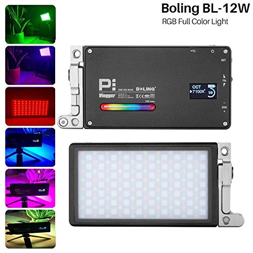 Boling BL-P1 RGB Led Video Light 2500K-8500K Pocket Size Camera Photo Lighting Built in 2930mAh Battery 360° Adjustable Support System