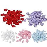 Awakingdemi Heart Sponge Confetti,1000pcs Love Heart Shaped Petals Throwing Flowers for Wedding Celebration Decor