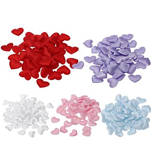 Awakingdemi Heart Sponge Confetti,1000pcs Love Heart Shaped Petals Throwing Flowers for Wedding Celebration Decor - Heart Shaped Petals