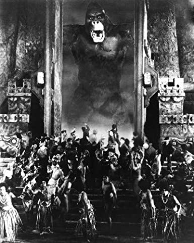 King Kong 1933 Kong Frightens Town People 11x14 Hd Aluminum