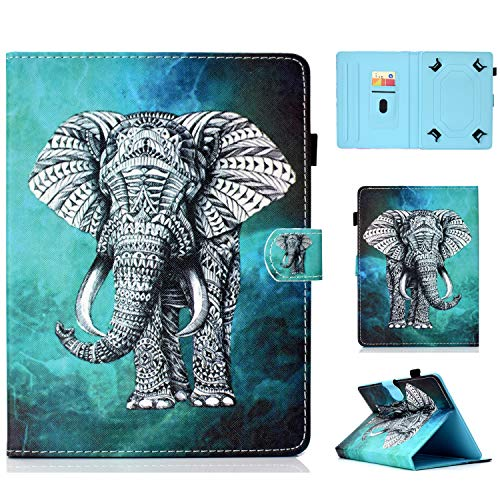 Cover for 9.5-10.5 Inch Tablet, Kindle Fire HD 10,iPad 9.7 Inch,Galaxy Tab 10.1/9.7 Tablet,Galaxy Tab S4 10.5 Inch,T830,T590, Elephant ()
