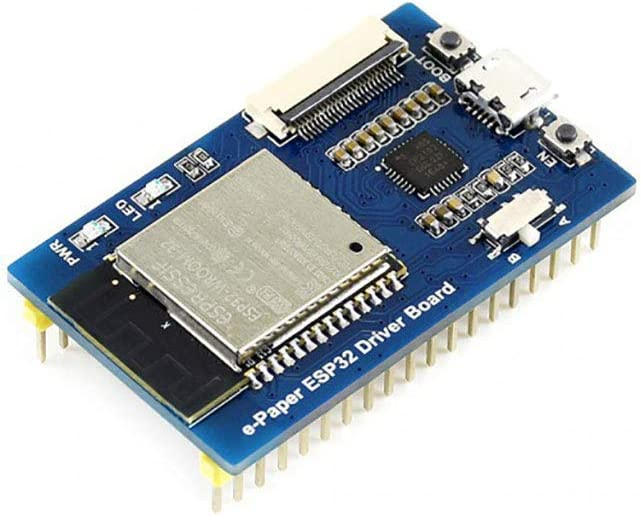 Tri-Color 7.5inch E-Paper Display HAT Module 640x384 E-Ink Three-Color Paper Screen for Raspberry Pi//Jetson Nano//Arduino SPI Interface with ESP32 Driver Board WiFi//Bluetooth