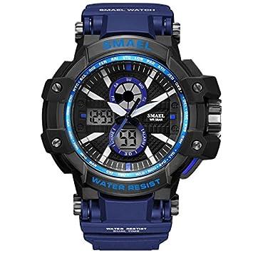 SMAEL serie 2018 reloj hombres Digital LED pantalla S golpes resistir Relogios Masculino cronógrafo ejército relojes