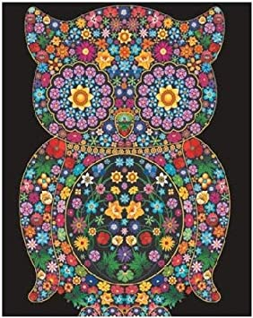 Terciopelo colorvelvet de 47x35 cm para colorear con caja de rotuladores - Buho flores: Amazon.es: Hogar