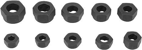 1# DyNamic Drillpro 10Pcs Damaged Nut Bolt Extractor Repair Kit Metric Broken Bolt Remover Stud Extractor