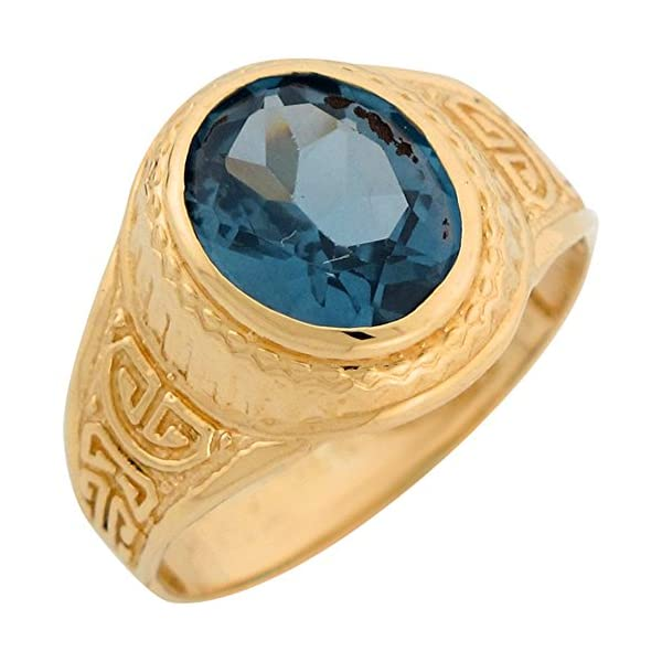 10k-Yellow-Gold-Greek-Design-Simulated-Birthstone-Mens-Ring
