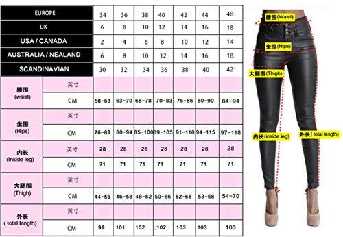 Vaqueros Cintur Trousers Pants Elástica Pantalones 3 Delgado Mendigo Mezclilla Blau Elástico Cintura Agujero Mujer Betrothales Elásticos Algodón d8tw6d