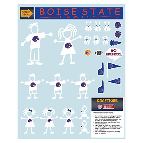 Boise State Broncos Decal BOISE STATE FAMILY DECAL (Broncos Family Decal)