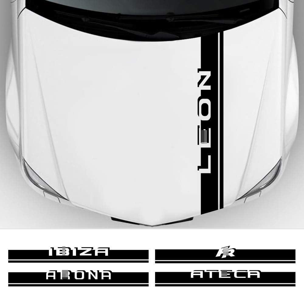 Slongk Für Seat Leon Mk3 Mk2 Ibiza 6j 6l Fr Ateca Arona Motorhaubenaufkleber Vinylfolie Dekor Aufkleber Auto Motorabdeckung Autozubehör Sport Freizeit