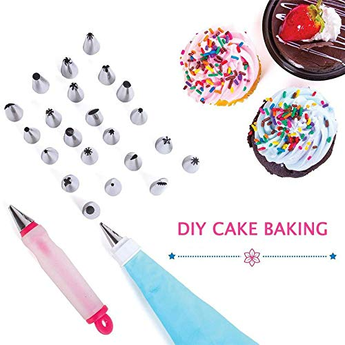 Piping Bags - 2019 New 38Pcs Cake Decorating Supplies Piping Tip Turntable Pastry Bag Set Cake Baking Decorating Tool