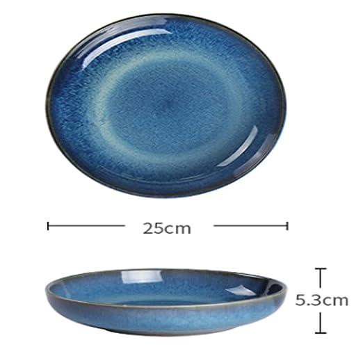 Kitchenware tray Plato Personalidad Creativa Horno esmaltado Azul ...