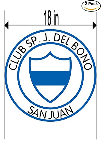 Club Sportivo Juan Bautista Del Bono de San Juan Argentina Soccer Football Club FC 2 Stickers Car Bumper Window Sticker Decal Huge 18 inches