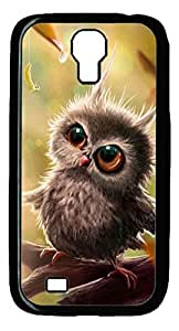 Galaxy S4 Case, Unique Design Protective Hard PC Black Baby Owl Case Cover for Samsung Galaxy S4 by ruishername