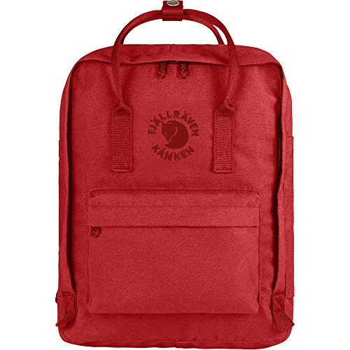 Fjallraven - Kanken, Re-Kanken Recyclable Pack, Heritage and Responsibility Since 1960, Red