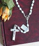 Glow in the Dark Italian Religious Rosary Necklace in Box