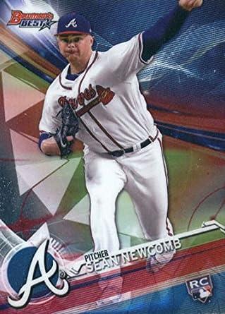Amazoncom 2017 Bowmans Best 43 Sean Newcomb Atlanta Braves