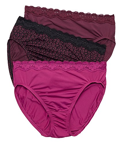 Olga Without A Stitch Hi-Cut Brief 3-Pack, 9, Fig / Animal / Spice (Save The Animals Merchandise compare prices)