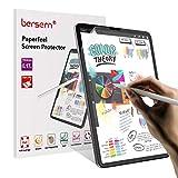 BERSEM[3 PACK]Paperfeel iPad Pro 12.9 Screen Protector(2020 and 2018 Model),iPad Pro 12.9 Screen Protector Paperfeel with Easy Installation Kit Anti Glare Paperfeel PET Flexible Film (Color: iPad pro 12.9 3rd Gen & 4th, Tamaño: 2 pack)
