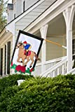 Cheap Evergreen Kentucky Derby Double-Sided Appliqué House Flag – 28″ W x 44″ H