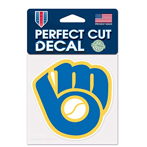 (WinCraft MLB Milwaukee Brewers 45207011 Perfect Cut Color Decal, 4