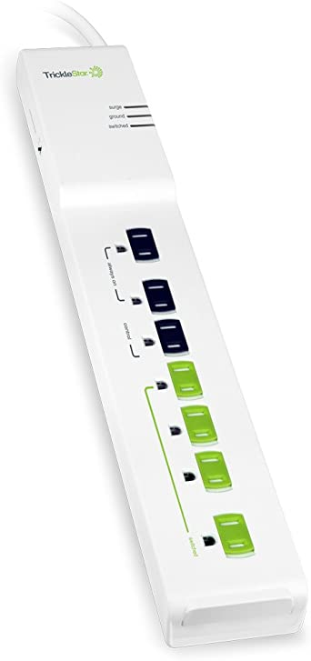 TrickleStar 7 Outlet Advanced PowerStrip, 1080 Joules – , 3 FT ...