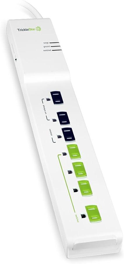TrickleStar 12 Advanced Outlet Energy Saving Power Strip Surge Protector 1080J