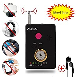 Auhko RF Signal Bug Detector, Multi-function RF Signal Camera Phone GSM GPS WiFi Bug Detector Finder with Alarm for Security Upgrade Version