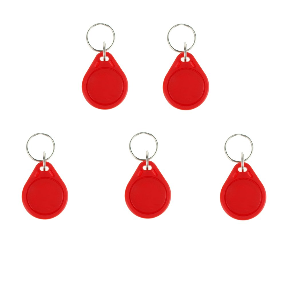 Red OBO Hands 20pcs Mifare Classic 1K 14443A KeyFobs 13.56MHz ABS Mifare 1K S50 NFC Tags For Access Control