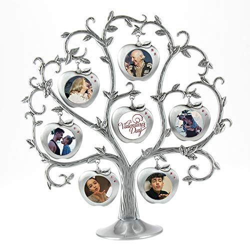 think about your life Andy HOUSEWARE Apple Tree Family Tree Fashion Metal Picture Frame Hanging Photo Frames Tree Love Photo Happiness Tree (Tree Shape) (Apple)