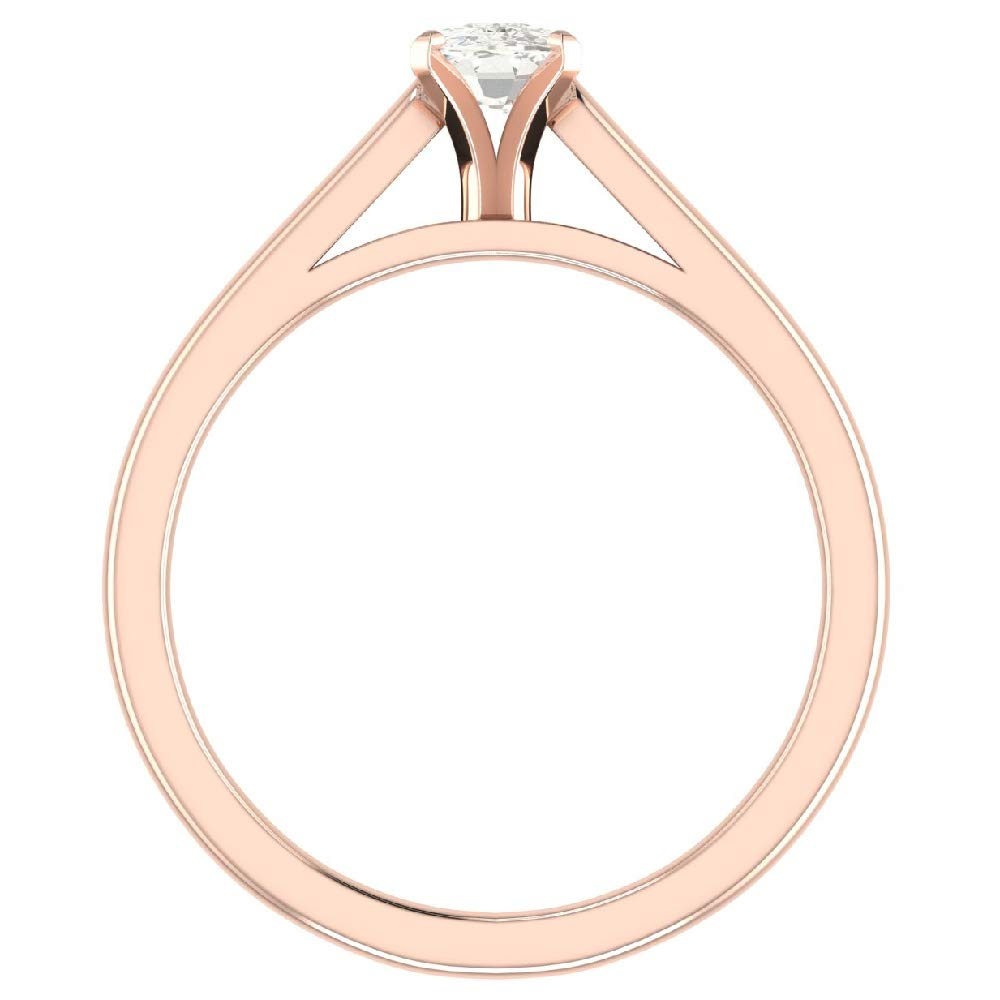 Amazon.com: Anillo de compromiso de diamante de 0,50 ...