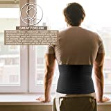 "ORTONYX 10.25"" Abdominal Binder for Men and Women / Postpartum Post-operative Post-surgery Wrap / Abdomen Navel Umbilical Hernia Support Belt / 524010 Black L/XXL"