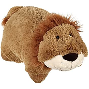 """Pillow Pets Classic Stuffed Animal Pillow, Lively Lion, 16"""""""