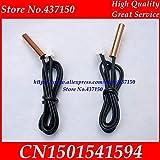 Fevas NTC Temperature Sensor Probe Thermometer Sensor 5K 10K 15K 20K 25K 50K +-1% Waterproof 53cm Cable XH2.54 2P Connector - (Color: 50K)