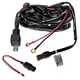 Primelux 12ft Relay Wiring Harness for LED Light Bars - 12V 40A Relay & 3-Pin On/Off Rocker Switch & Waterproof Fuse Holder & Blade Fuse & Male/Female Connector (1x180W(1 Lead / 1x16 AWG))