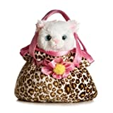 "Pretty Kitty Fancy Pals Purse with 8"" Cat"